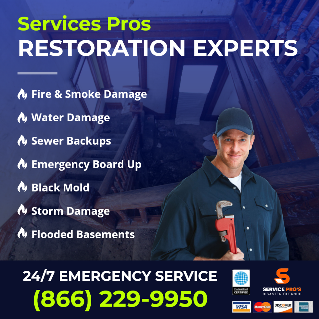 water damage company in Bellevue, OH